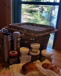 Adorable breakfast at Pine Lodge in French River, Ontario